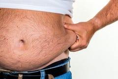 Hombre con exceso de peso Imágenes de archivo libres de regalías
