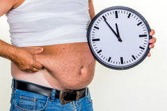 Hombre con exceso de peso Fotografía de archivo libre de regalías