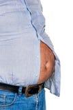 Hombre con exceso de peso Foto de archivo libre de regalías