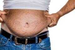 Hombre con exceso de peso Fotos de archivo libres de regalías