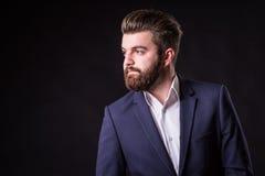 Hombre con la barba, retrato del color foto de archivo libre de regalías