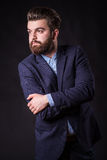 Hombre con la barba, retrato del color fotos de archivo libres de regalías