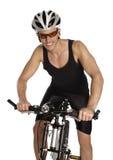 Hombre con la bicicleta Foto de archivo
