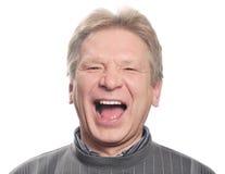 Hombre con la boca abierta Imagen de archivo