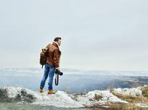 Hombre con la cámara Imagen de archivo