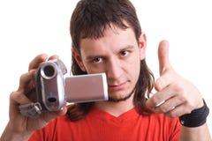 Hombre con la cámara Fotos de archivo