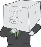 Hombre con la cabeza del bloque libre illustration