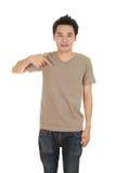 Hombre con la camiseta en blanco Fotografía de archivo
