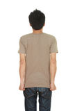 Hombre con la camiseta en blanco Imagenes de archivo
