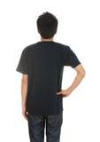Hombre con la camiseta en blanco Foto de archivo