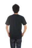 Hombre con la camiseta en blanco Imagen de archivo