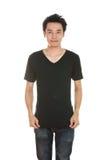 Hombre con la camiseta en blanco Imagen de archivo libre de regalías