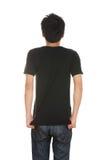 Hombre con la camiseta en blanco Foto de archivo libre de regalías