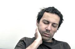 Hombre con la cara hinchada que sufre de dolor de muelas Imágenes de archivo libres de regalías