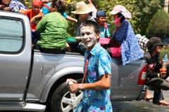 Hombre con la cara pintada Fotos de archivo libres de regalías