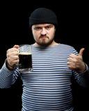 Hombre con la cerveza Fotografía de archivo