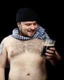 Hombre con la cerveza Fotografía de archivo libre de regalías