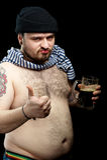 Hombre con la cerveza Foto de archivo libre de regalías