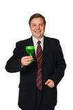 Hombre con la copa de vino Fotografía de archivo
