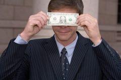 Hombre con la cuenta de dólar Foto de archivo libre de regalías