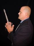 Hombre con la daga Imagen de archivo