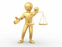 Hombre con la escala. Símbolo de la justicia Imagen de archivo libre de regalías