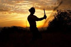 Hombre con la espada Imagen de archivo libre de regalías