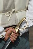 Hombre con la espada Imágenes de archivo libres de regalías