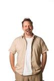 Hombre con la expresión de la diversión Foto de archivo libre de regalías