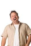 Hombre con la expresión de la diversión Imágenes de archivo libres de regalías