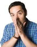 Hombre con la expresión desconcertada Imagen de archivo
