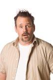 Hombre con la expresión sorprendida Foto de archivo libre de regalías