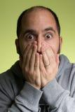 Hombre con la expresión sorprendida Foto de archivo