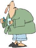 Hombre con la gripe Foto de archivo libre de regalías