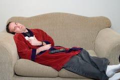 Hombre con la gripe Imágenes de archivo libres de regalías