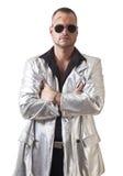 Hombre con la laceración y las gafas de sol Imagenes de archivo