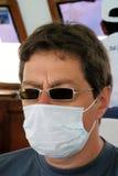 Hombre con la máscara Fotos de archivo libres de regalías