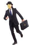 Hombre con la máscara Imagen de archivo libre de regalías