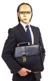 Hombre con la máscara aislada foto de archivo