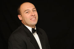 Hombre con la pajarita Foto de archivo libre de regalías