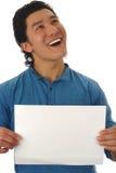 Hombre con la pantalla vacía Imagen de archivo libre de regalías