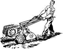 Hombre con la sierpe de Roto stock de ilustración