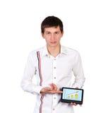 Hombre con la tableta Foto de archivo libre de regalías