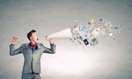 Hombre con la trompeta Fotos de archivo libres de regalías
