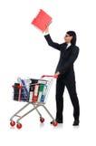 Hombre con las carpetas del negocio Imágenes de archivo libres de regalías