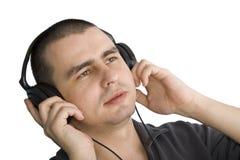 Hombre con los auriculares fotos de archivo libres de regalías