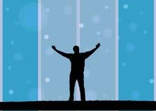 Hombre con los brazos abiertos libre illustration