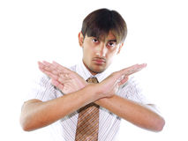 Hombre con los brazos cruzados Imagen de archivo