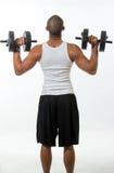 Hombre con los músculos imágenes de archivo libres de regalías