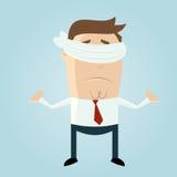 Hombre con los ojos vendados de la historieta Imagen de archivo libre de regalías